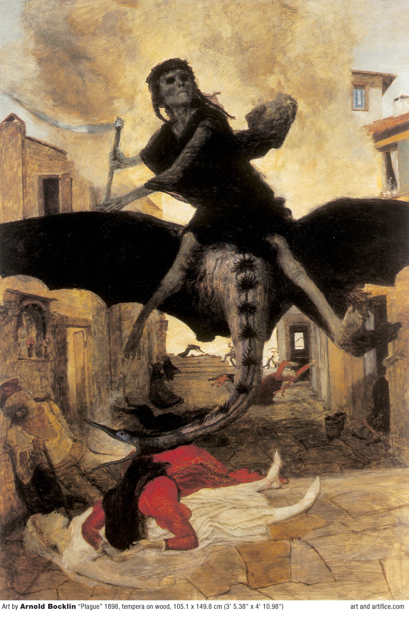 The Plague by Arnold Bocklin 1898