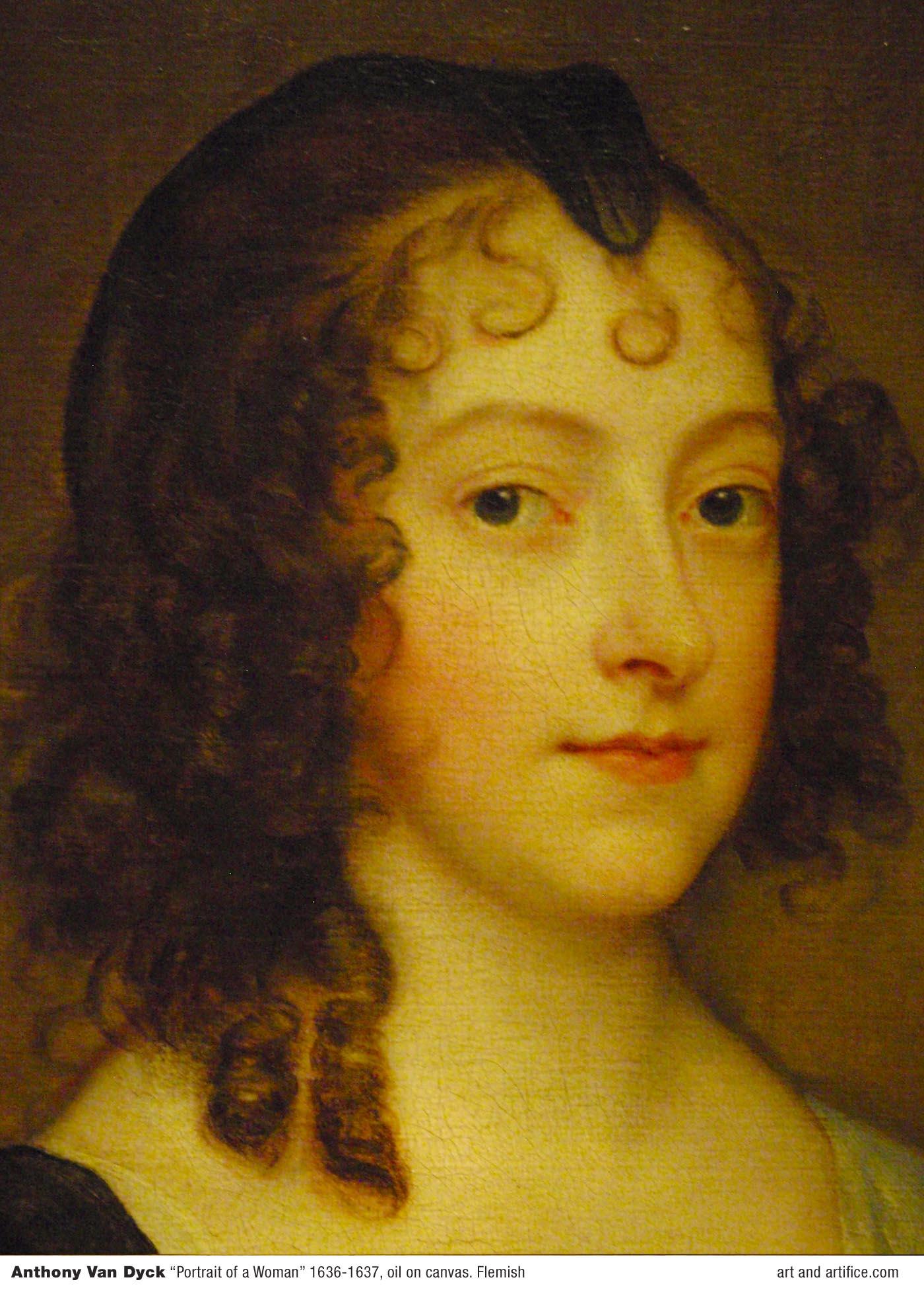 Anthony Van Dyck Portrait Of A Woman 1836