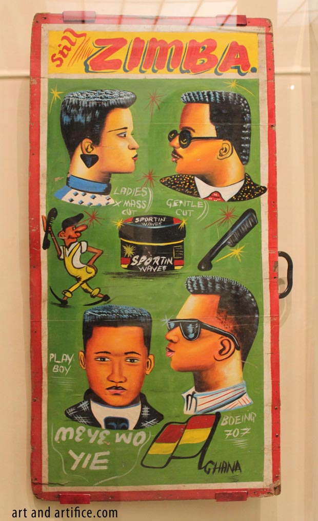 Ghana Barber Sign Art VFMA