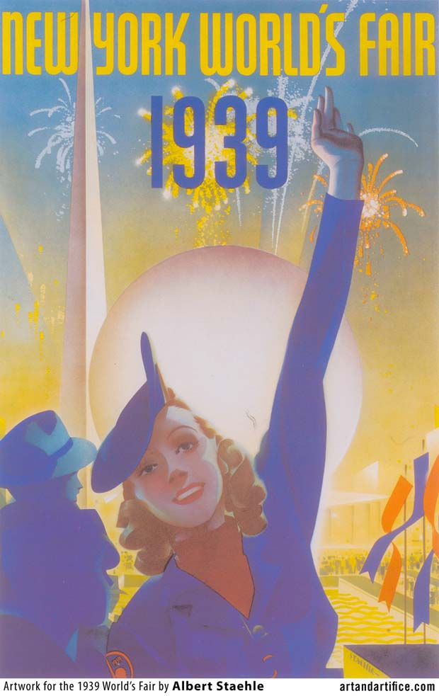 Worlds Fair Art Deco Poster 1939