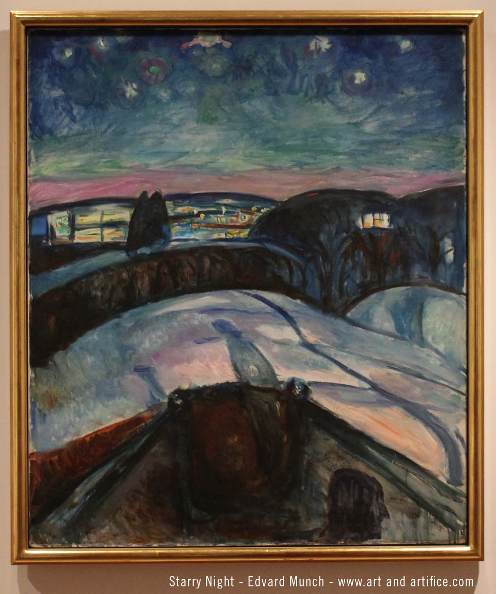 Starry Night - Edvard Munch - 1923