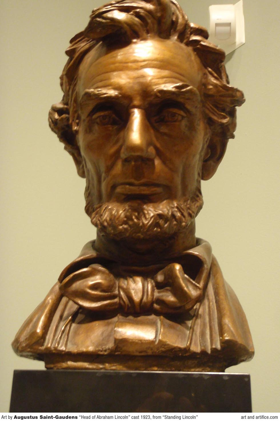 augustus saint gaudens head of abraham lincoln. Black Bedroom Furniture Sets. Home Design Ideas