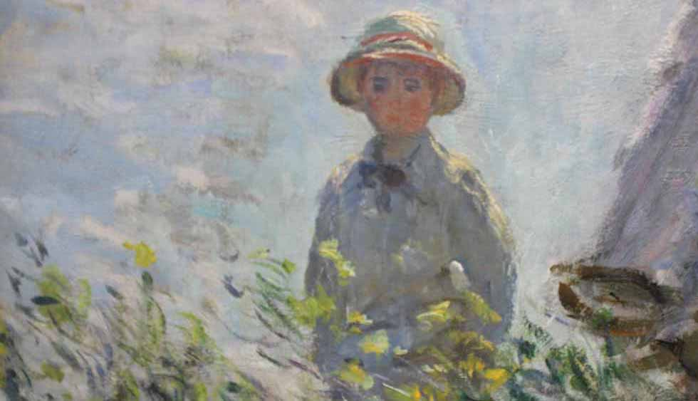 Son detail - Woman with Parasol
