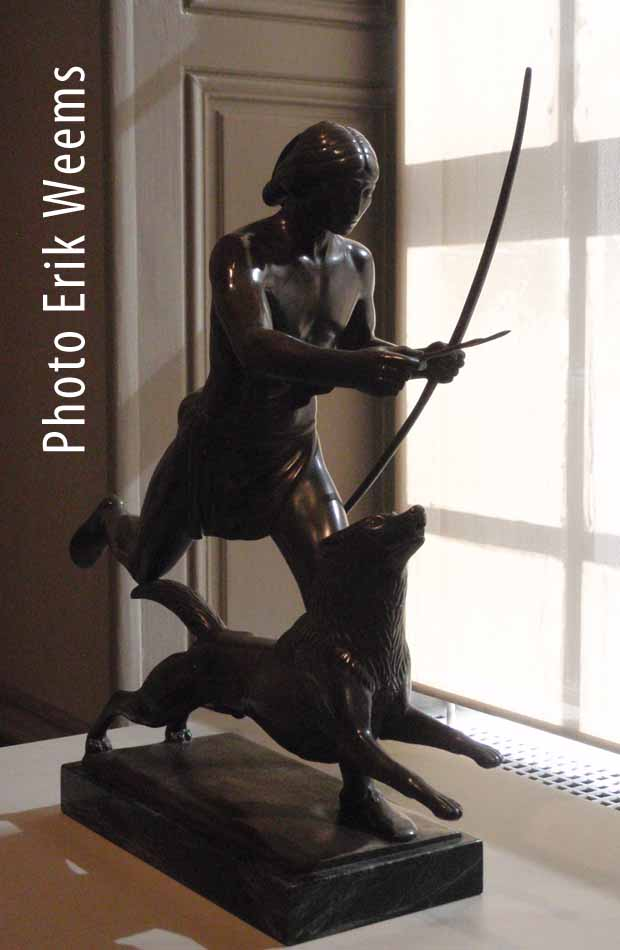 Paul Manship - Dog and Indian Running