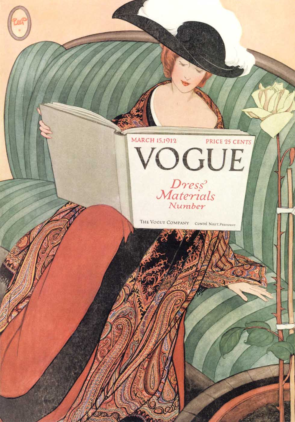 George WOlfe Plank cover Vogue Magazine 1912