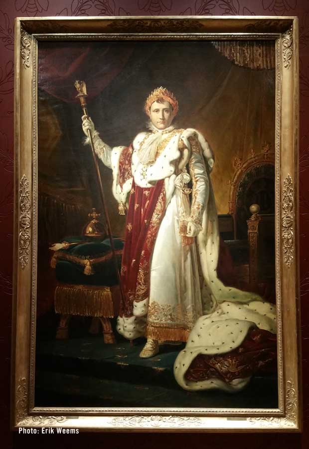 Napoleon in his imperial robes - painting by Francois Gerald 1805