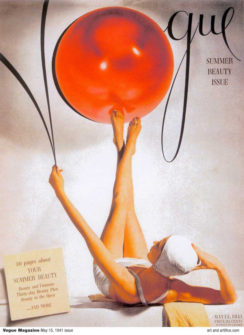 Vogue Magazine Summer Cover 1941 May 15