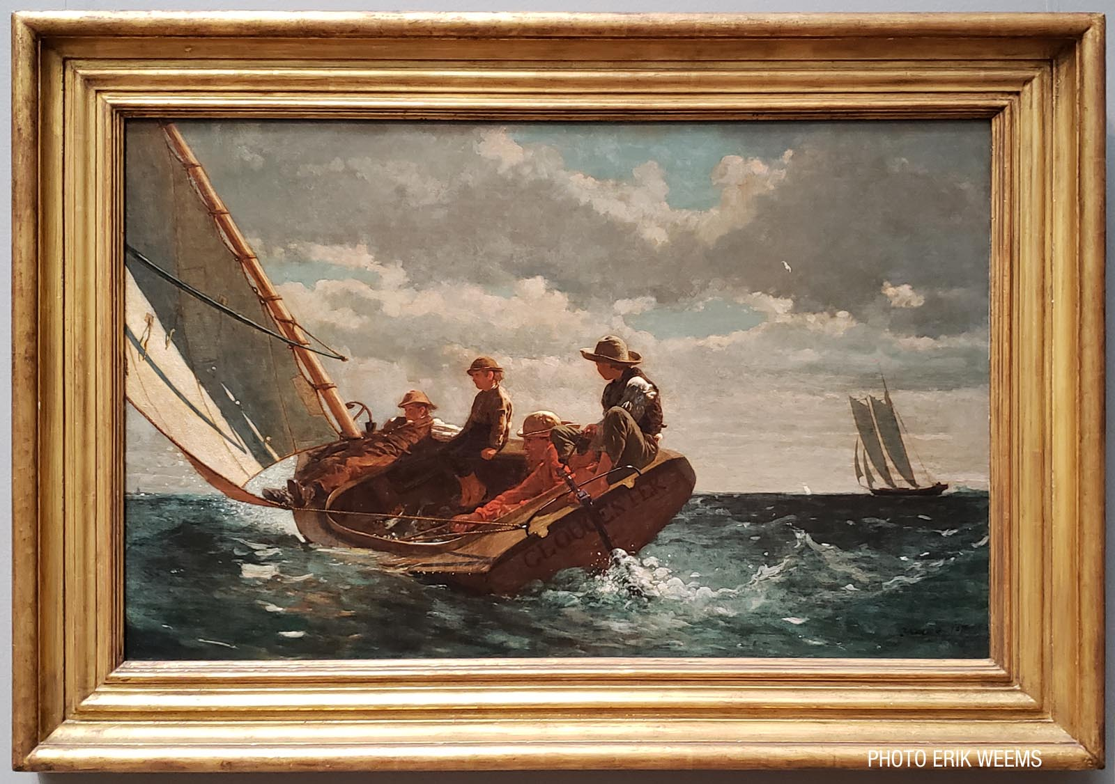 Enlarged - Breezing Up A Fair Wind Oil Painting by Winslow Homer 1873-1876