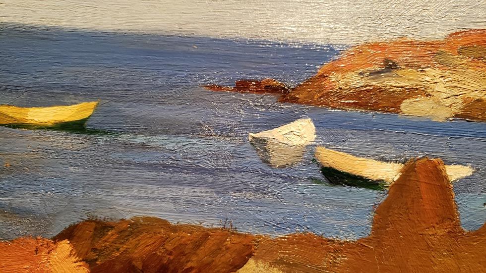 Detail of Cove at Ogunquit by Hopper
