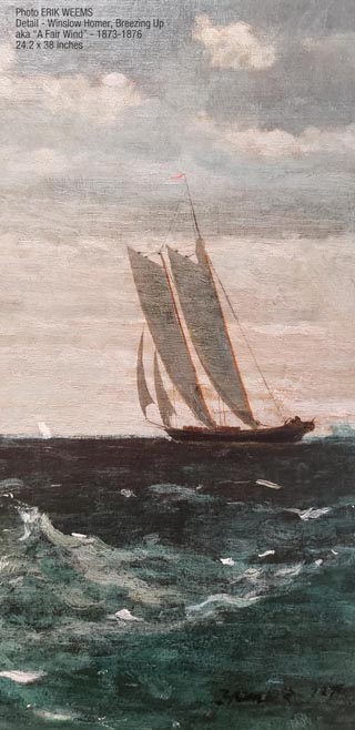 Detail Breesing Up by Winslow Homer