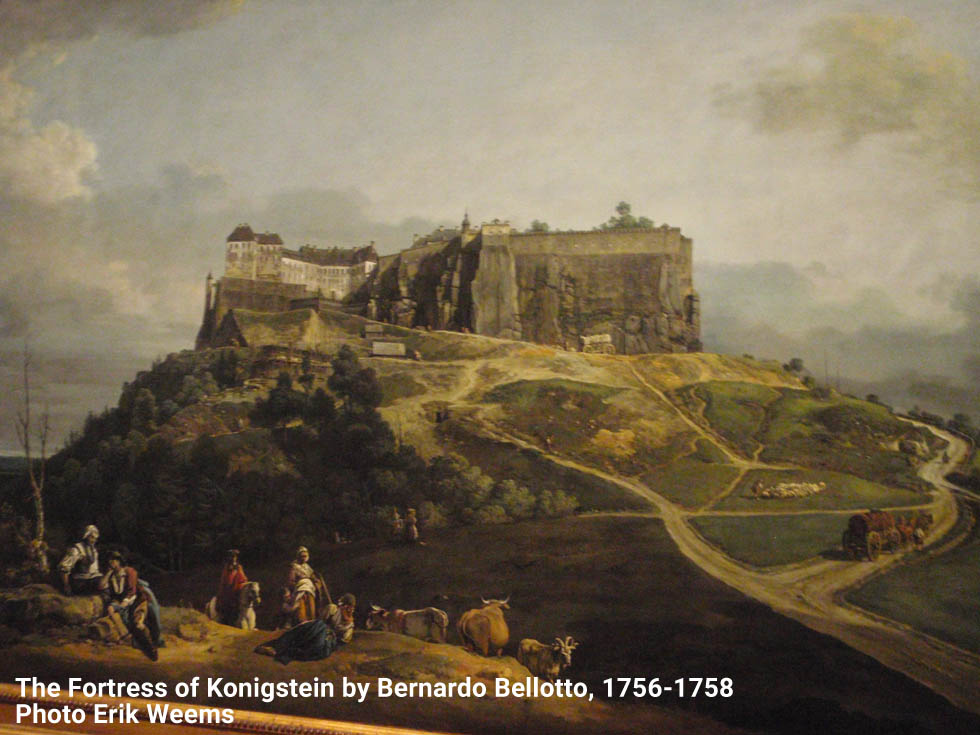 Detail of castle from Fortress of Konigstein