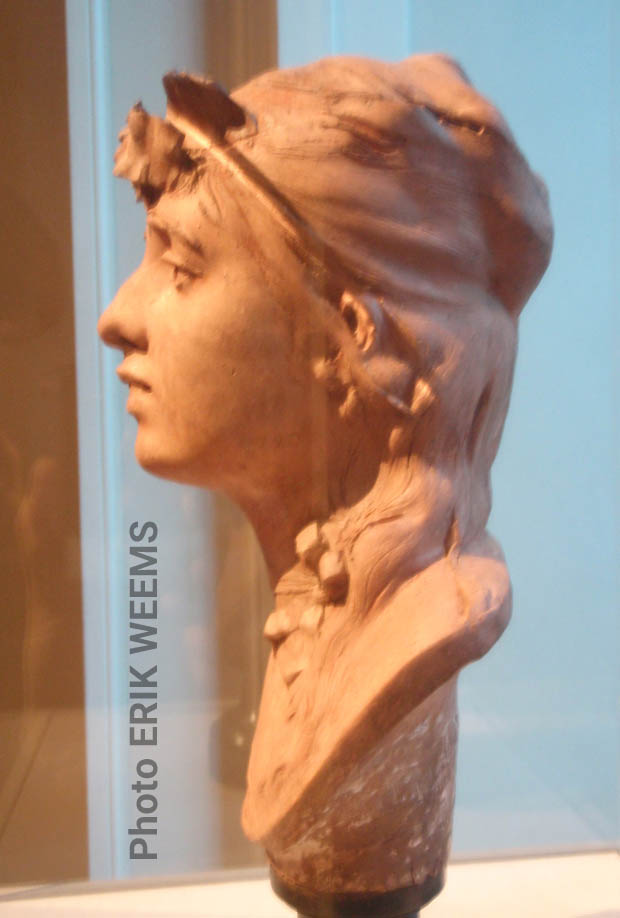 Profile art by Auguste Rodin - Profile of a Young Girl