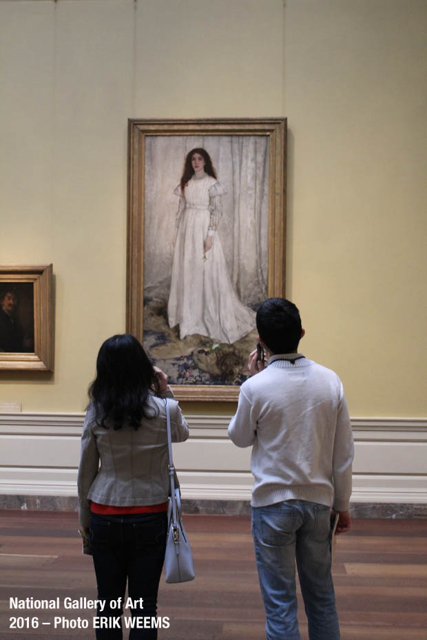 Whistlers Girl in White at the NGA