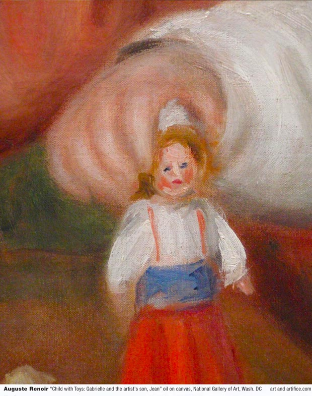 Auguste Renoir-Child with Toys - Detail 2