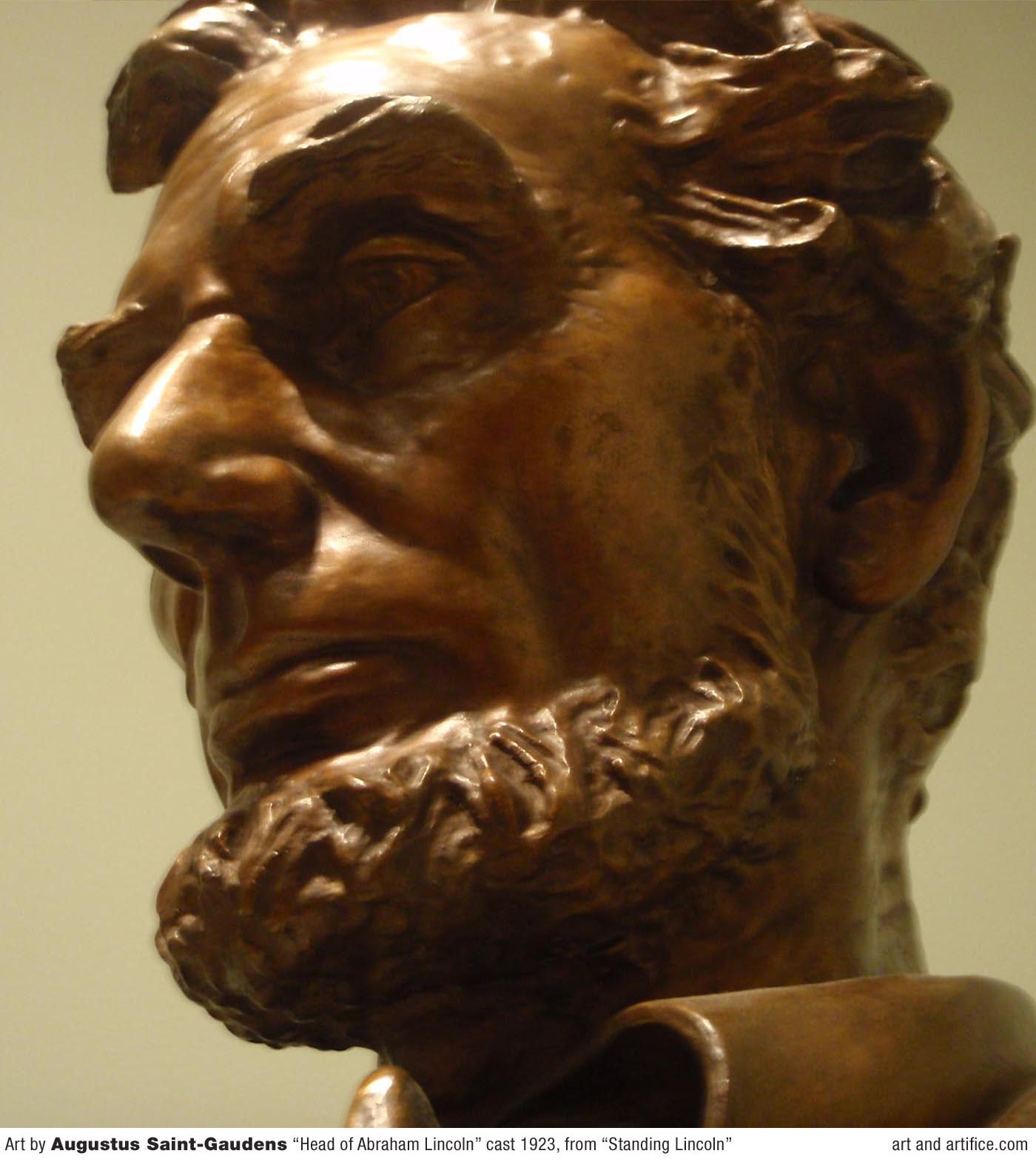 Head of Lincoln - Cast Bust 1923